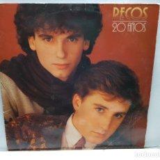 Discos de vinilo: LP-PECOS - 20 AÑOS EN FUNDA ORIGINAL 1981. Lote 182774276