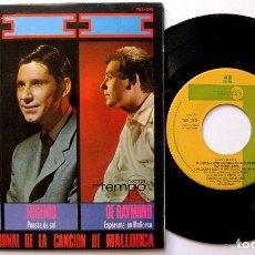 Discos de vinilo: HANNELORE AUER /EUGENIO /DE RAYMOND - 3R FESTIVAL INTERNACIONAL CANCIÓN MALLORCA - EP TEMPO 1966 BPY. Lote 182774901