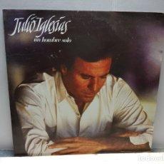 Discos de vinilo: LP-JULIO IGLESIAS- UN HOMBRE SOLO EN FUNDA ORIGINAL 1987. Lote 182778441