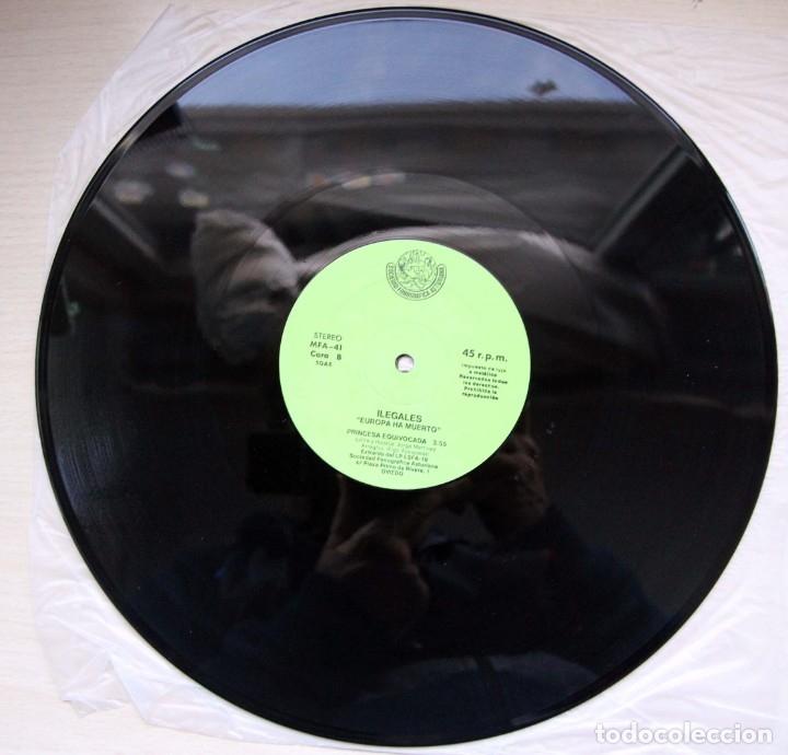 Discos de vinilo: Ilegales – Europa Ha Muerto - sociedad fonografica asturiana - 1983 - raro - Foto 4 - 182781435