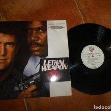 Discos de vinilo: LETHAL WEAPON 2 BANDA SONORA LP VINILO DEL AÑO 1989 ALEMANIA 10 TEMAS GEORGE HARRISON THE BEACH BOYS. Lote 182781623