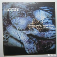 Discos de vinilo: TRICKY & P.J. HARVEY SINGLE VINILO UK MONEY GREEDY/BROKEN HOMES NUEVO A ESTRENAR!. Lote 182783993