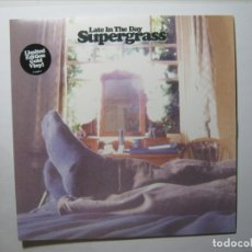 Disques de vinyle: SUPERGRASS SINGLE VINILO UK DORADO EDICIÓN LIMITADA LATE IN THE DAY NUEVO A ESTRENAR. Lote 182786680