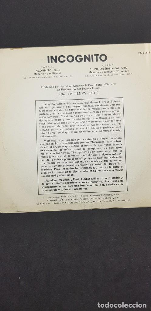 Discos de vinilo: INCOGNITO 'INCOGNITO' 1981 - Foto 2 - 182787495