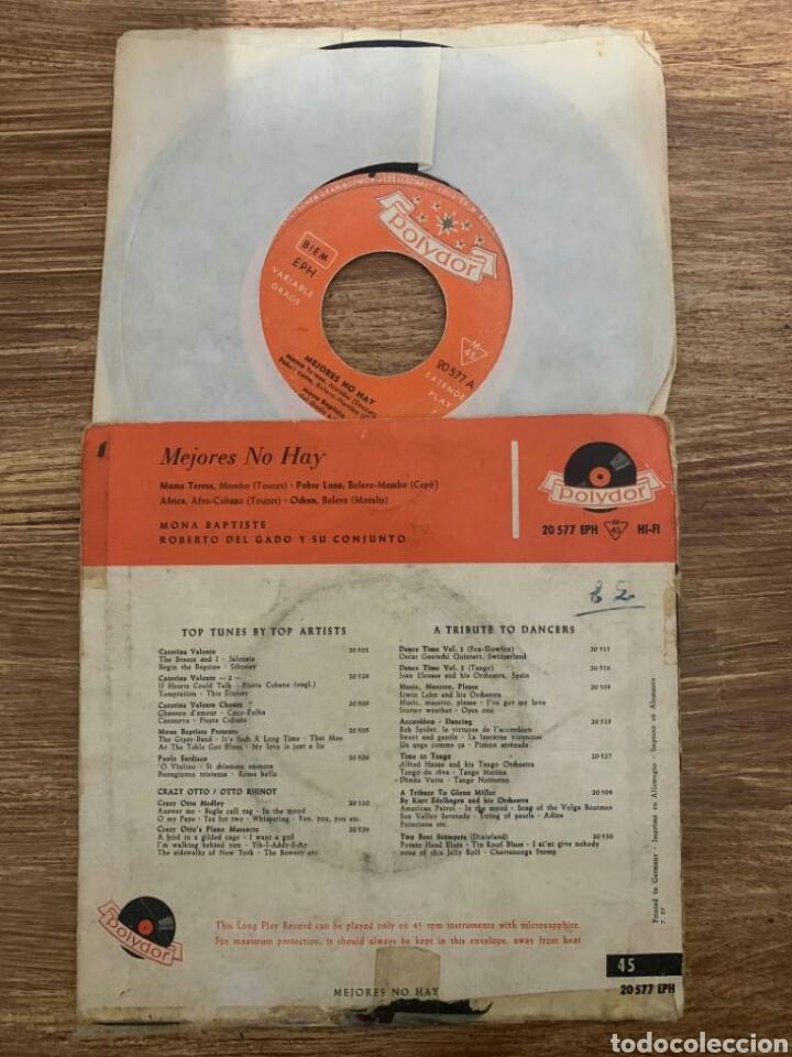 Discos de vinilo: EP MONA BAPTISTE ROBERTO DELGADO Y SU CONJUNTO - MEJORES NO HAY - Foto 2 - 182799722