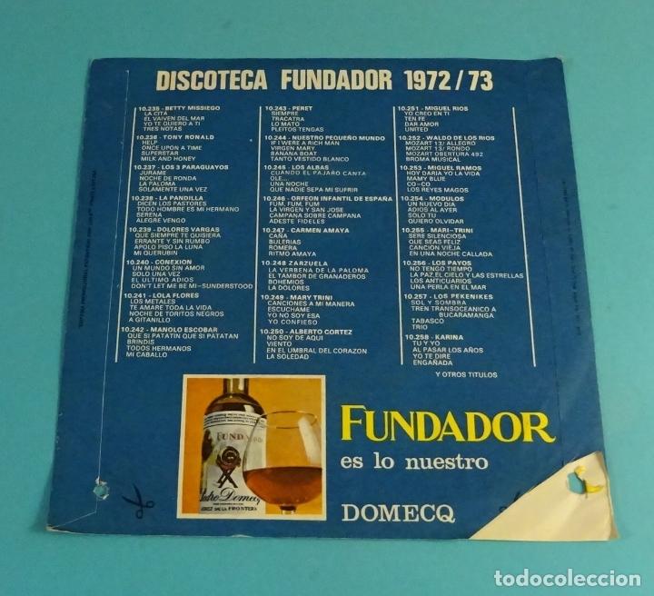 Discos de vinilo: LOS ALBAS. CUANDO EL PÁJARO CANTA, OLE ... EL VERANO, UNA NOCHE, QUE NADIE SEPA MI SUFRIR. FUNDADOR - Foto 4 - 182811255