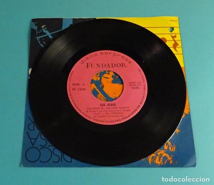 LOS ALBAS. CUANDO EL PÁJARO CANTA, OLE ... EL VERANO, UNA NOCHE, QUE NADIE SEPA MI SUFRIR. FUNDADOR (Música - Discos de Vinilo - EPs - Flamenco, Canción española y Cuplé)