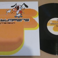 Discos de vinil: BASS BUMPERS / THE MUSIC TURNS ME ON / MAXI-SINGLE 12 INCH. Lote 182816405