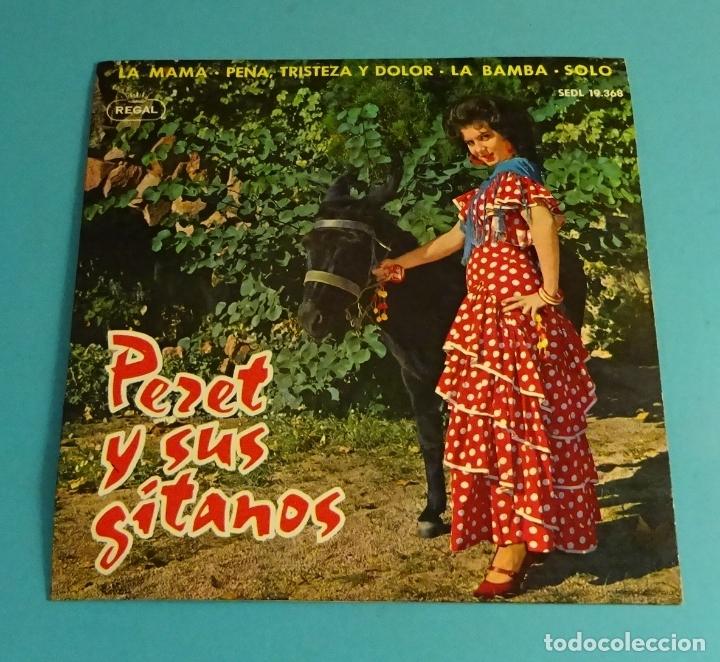 PERET Y SUS GITANOS. SOLO CARPETA, SIN VINILO (Música - Discos de Vinilo - EPs - Flamenco, Canción española y Cuplé)