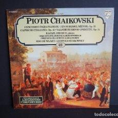 Discos de vinilo: PIOTR CHAIKOVSKI. CONCIERTO PARA PIANO N. 1. LOS GRANDES COMPOSITORES DE SALVAT. 1982.. Lote 182830592