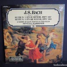 Discos de vinilo: J.S. BACH. SUITE N. 2 Y 3.LOS GRANDES COMPOSITORES DE SALVAT. 1982.. Lote 182833195