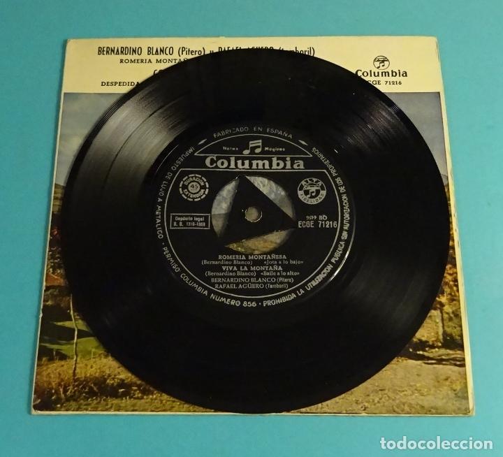 Discos de vinilo: BERNARDINO BLANCO - PITERO. RAFAEL AGUERO - TAMBORIL. CORO RONDA GARCILASO. COLUMBIA 1959 - Foto 3 - 182835703