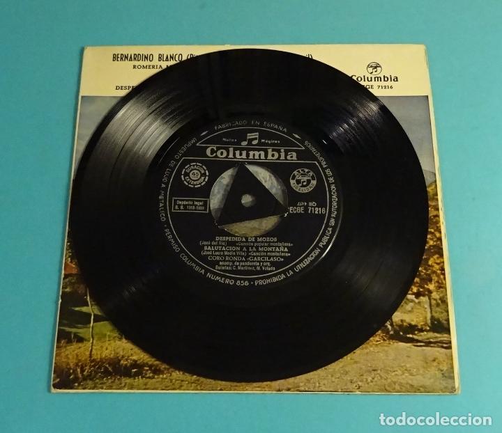 Discos de vinilo: BERNARDINO BLANCO - PITERO. RAFAEL AGUERO - TAMBORIL. CORO RONDA GARCILASO. COLUMBIA 1959 - Foto 4 - 182835703
