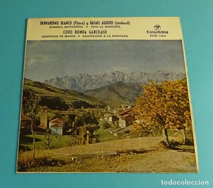 BERNARDINO BLANCO - PITERO. RAFAEL AGUERO - TAMBORIL. CORO RONDA GARCILASO. COLUMBIA 1959 (Música - Discos de Vinilo - EPs - Flamenco, Canción española y Cuplé)