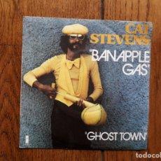 Discos de vinilo: CAT STEVENS - BANAPPLE GAS + GHOST TOWN . Lote 182841176