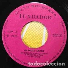 Discos de vinilo: SINGLE PROMO FUNDADOR ALMAS HUMILDES – GRANDES ÉXITOS. Lote 182850015