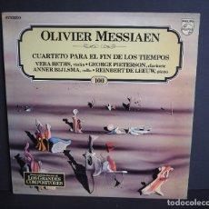 Discos de vinilo: OLIVER MESSIAEN. CUARTETO PARA EL FIN DE LOS TIEMPOS. LOS GRANDES COMPOSITORES DE SALVAT. 1982. Lote 182850871