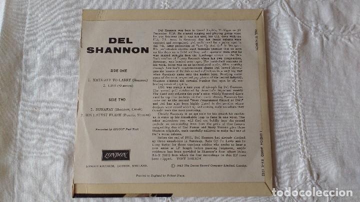 Discos de vinilo: EP DEL CANTANTE NORTEAMERICANO DE ROCK AND ROLL, DEL SHANNON. UK FIRST PRESS ( AÑO 1962) - Foto 3 - 182855237