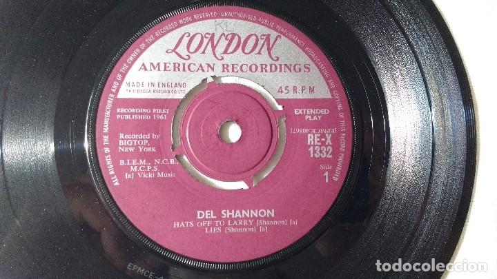 Discos de vinilo: EP DEL CANTANTE NORTEAMERICANO DE ROCK AND ROLL, DEL SHANNON. UK FIRST PRESS ( AÑO 1962) - Foto 6 - 182855237