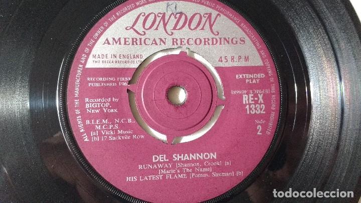 Discos de vinilo: EP DEL CANTANTE NORTEAMERICANO DE ROCK AND ROLL, DEL SHANNON. UK FIRST PRESS ( AÑO 1962) - Foto 7 - 182855237