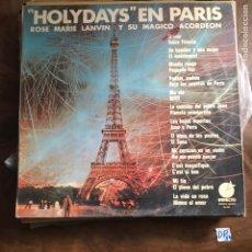 Discos de vinilo: HOLYDAYS EN PARIS. Lote 182857307