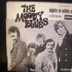 Discos de vinilo: THE MOODY BLUES- NIGHTS IN WHITE SATIN. SINGLE.. Lote 182858597