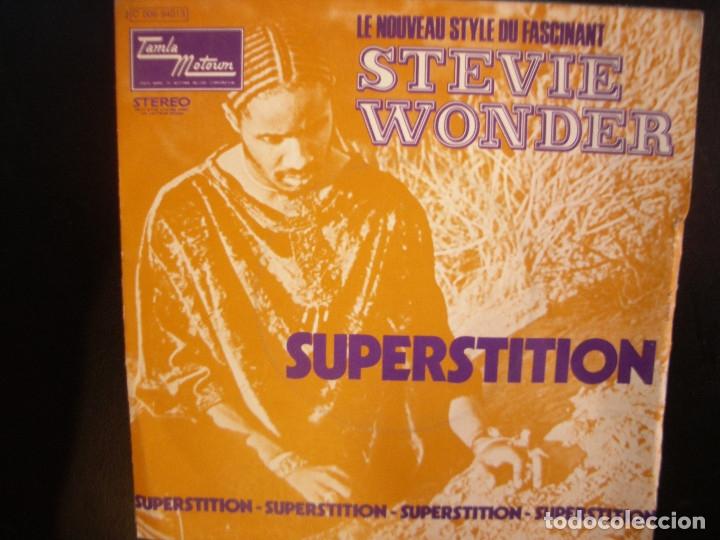 STEVIE WONDER- SUPERSTITION. SINGLE. (Música - Discos - Singles Vinilo - Funk, Soul y Black Music)