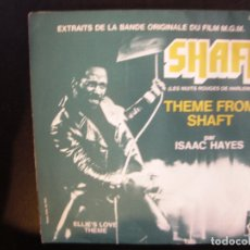 Discos de vinilo: ISAAC HAYES- SHAFT. SINGLE.. Lote 182862775