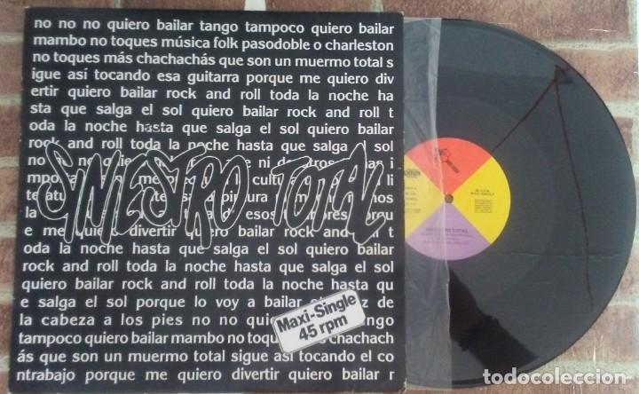 SINIESTRO TOTAL QUIERO BAILAR ROCK AND ROLL + 2 DRO 1987 (Música - Discos de Vinilo - Maxi Singles - Grupos Españoles de los 70 y 80)