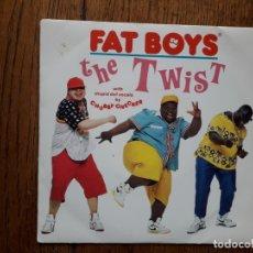 Discos de vinilo: FAT BOYS - THE TWIST (YO, TWIST!) + THE TWIST (BUFFAPELLA). Lote 182865798