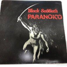 Discos de vinilo: SINGLE BLAKC SABBATH /PARANOICO /RAT SALDA EDITADO EN ESPAÑA EDIGSA 1981. Lote 182869962
