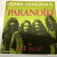 Discos de vinilo: SINGLE BLAKC SABBATH / PARANOID / RAT SALAD EDITADO EN FRANCIA. Lote 182871058