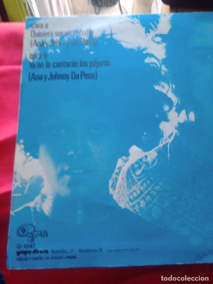 Discos de vinilo: ANA Y JOHNNY -QUIERO SER UN CABALLO - - Foto 2 - 182871976