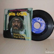 Discos de vinilo: DON CICUTA - SI YO FUERA KIKO--TANGO DE DON CICUTA - ODEON -BCN 1972-. Lote 182875232