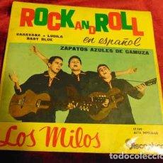 Discos de vinilo: LOS MILOS - ZAPATOS AZULES DE GAMUZA + 3 - EP 1961. Lote 182875603
