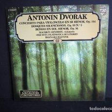 Discos de vinilo: ANTONIN DVORAK. LOS GRANDES COMPOSITORES DE SALVAT. 1982. Lote 182876506