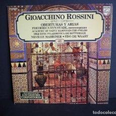 Discos de vinilo: GIOACCHINO ROSSINI. . LOS GRANDES COMPOSITORES DE SALVAT. 1982. Lote 182877735