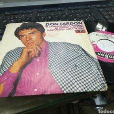 Discos de vinilo: DON FARDON SINGLE RESERVA DE INDIOS CHEROKEE ESPAÑA 1968. Lote 182878658