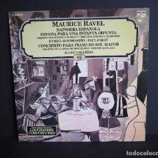 Discos de vinilo: MAURICE RAVEL. LOS GRANDES COMPOSITORES DE SALVAT. 1982. Lote 182879818
