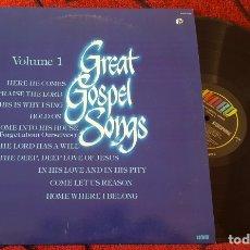 Discos de vinilo: GREAT GOSPEL SONGS VINILO USA LP 1980 MICKI FUHRMAN IMPERIALS AMY GRANT JESSY DIXON. Lote 182883583