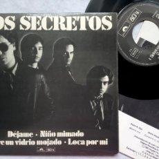 Discos de vinilo: LOS SECRETOS - DEJAME - EP LIMITADO CON ENCARTE 1980 - POLYDOR . Lote 182885891
