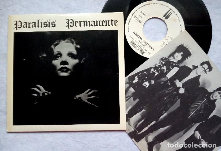 PARALISIS PERMANENTE NACIDOS PARA DOMINAR / SANGRE - SINGLE PROMOCIONAL CON INSERTO 1983 - 3CIPRESES (Música - Discos - Singles Vinilo - Grupos Españoles de los 70 y 80)