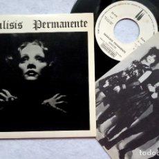 Discos de vinilo: PARALISIS PERMANENTE NACIDOS PARA DOMINAR / SANGRE - SINGLE PROMOCIONAL CON INSERTO 1983 - 3CIPRESES. Lote 182887767