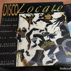 Discos de vinilo: DISCO LOCATE (ALASKA Y DINARAMA, LOQUILLO Y TROGLODITAS, OLE OLE...) LP ESPAÑA 1986 (B-8). Lote 182888066