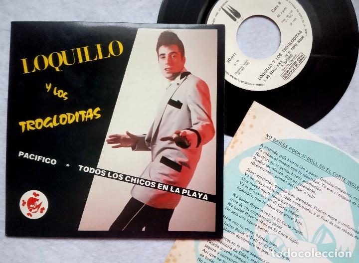 LOQUILLO Y LOS TROGLODITAS PACIFICO - SINGLE PROMOCIONAL CON INSERTO 1983 - 3CIPRESES (Música - Discos - Singles Vinilo - Grupos Españoles de los 70 y 80)