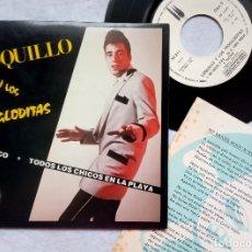 Discos de vinilo: LOQUILLO Y LOS TROGLODITAS PACIFICO - SINGLE PROMOCIONAL CON INSERTO 1983 - 3CIPRESES. Lote 182888655