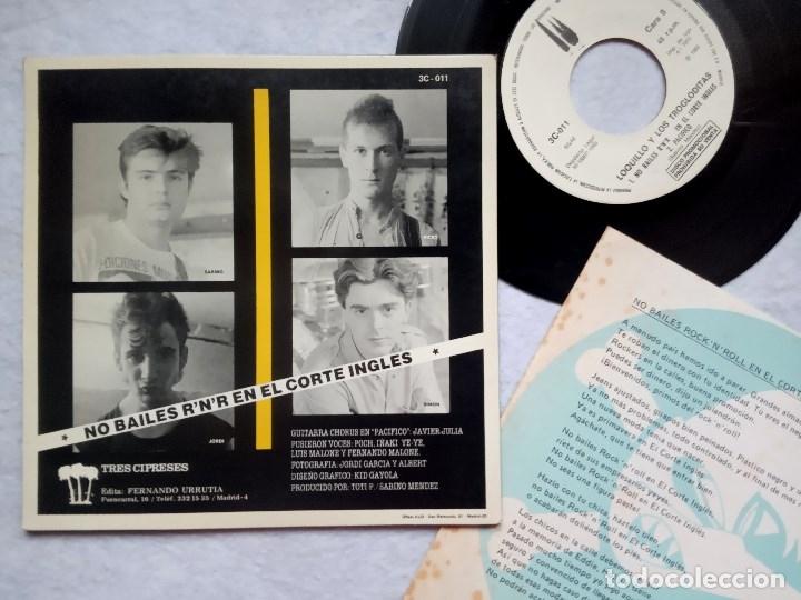 Discos de vinilo: LOQUILLO Y LOS TROGLODITAS pacifico - SINGLE PROMOCIONAL CON INSERTO 1983 - 3CIPRESES - Foto 2 - 182888655