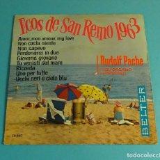 Discos de vinilo: RUDOLF PACHE Y SU ÓRGANO HAMMOND. ECOS DE SAN REMO 1963. Lote 182889303