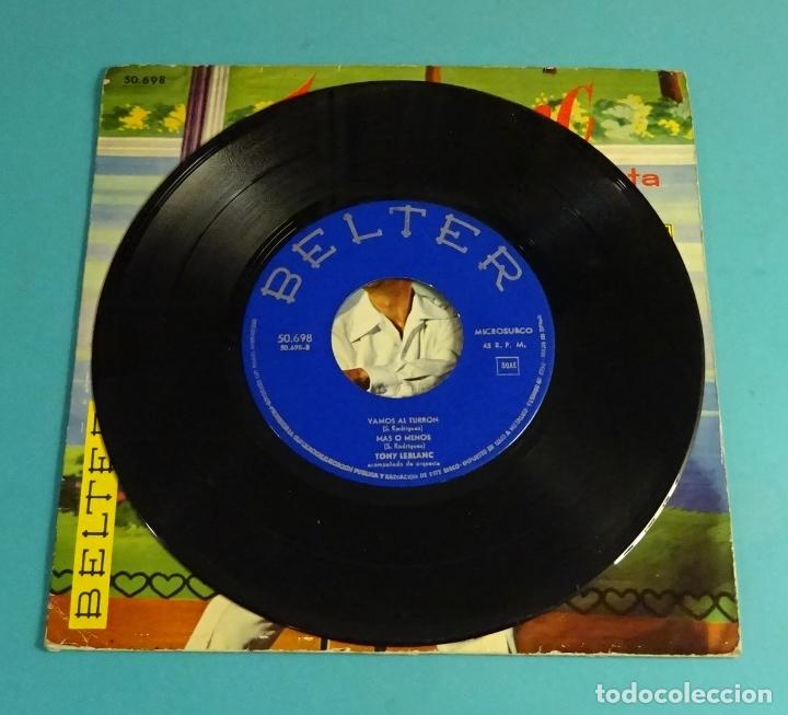 Discos de vinilo: TONY LEBLANC CANTA VAMOS AL TURRÓN. MIRÁNDOME EN TUS OJOS. BAILANDO CON ISBEL. MÁS O MENOS - Foto 4 - 182890978