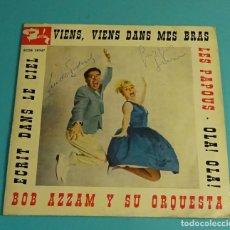 Discos de vinilo: BOB AZZAM CON MINY GERARD Y SU ORQUESTA. Lote 182893237